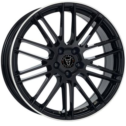 "17"" Wolfrace Kibo Gloss Black Polished Alloy Wheels"
