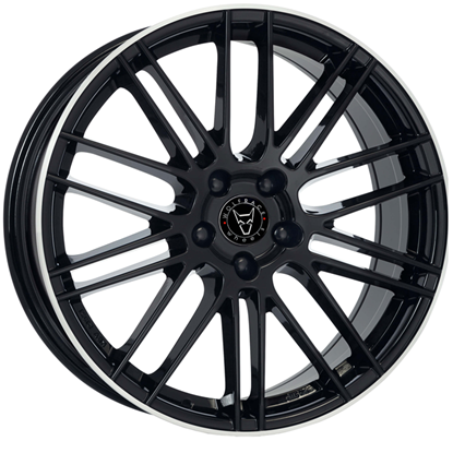 "20"" Wolfrace Kibo Gloss Black Polished Alloy Wheels"