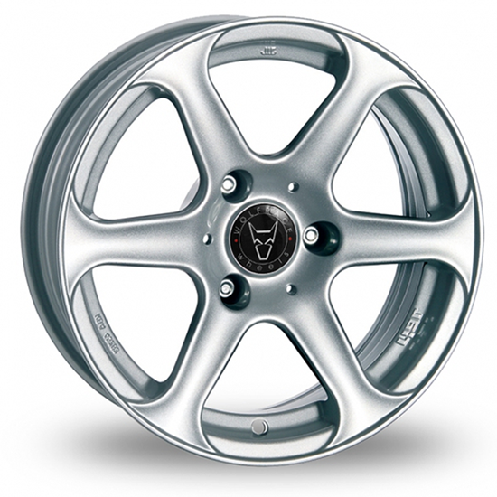"15"" Wolfrace LeMans Sterling Silver Alloy Wheels"