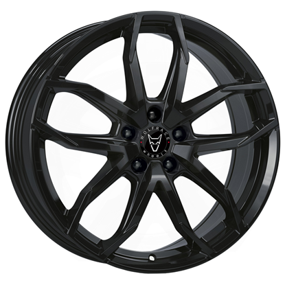 """17"""" Wolfrace Lucca Gloss Black Alloy Wheels"""