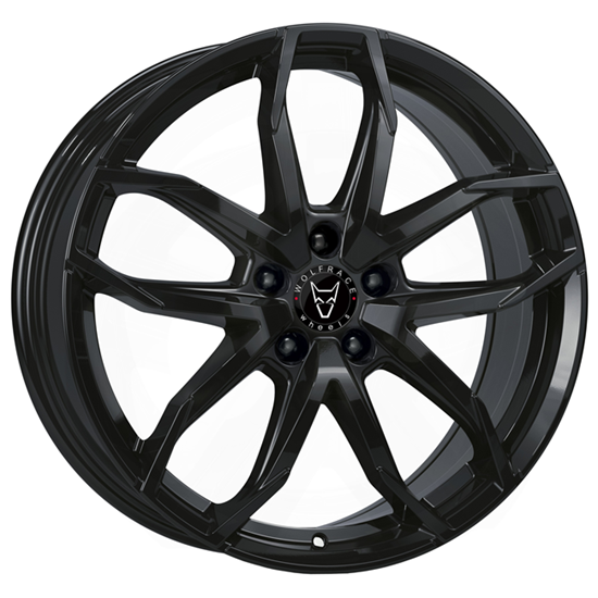 "18"" Wolfrace Lucca Gloss Black Alloy Wheels"
