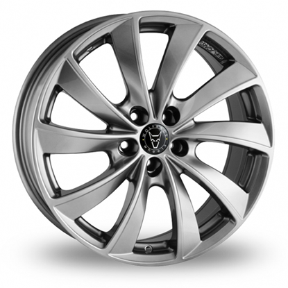 "17"" Wolfrace Lugano Sterling Silver Alloy Wheels"