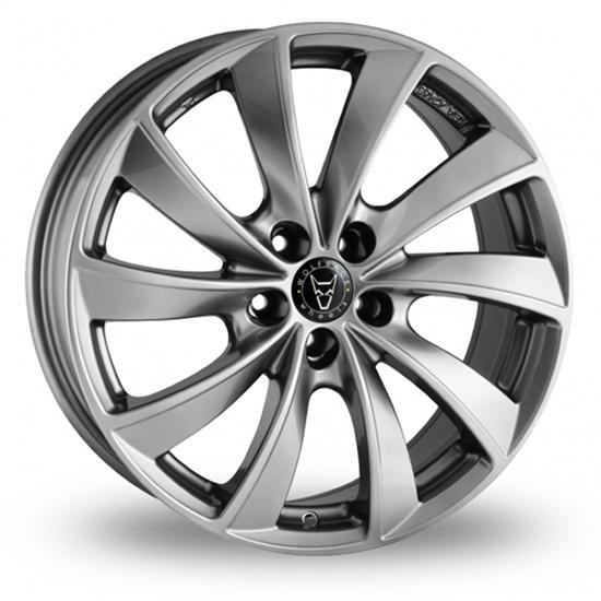 "18"" Wolfrace Lugano Sterling Silver Alloy Wheels"