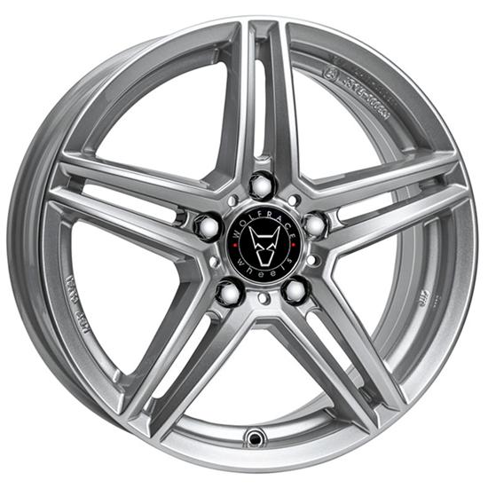 "17"" Wolfrace M10X Polar Silver Alloy Wheels"