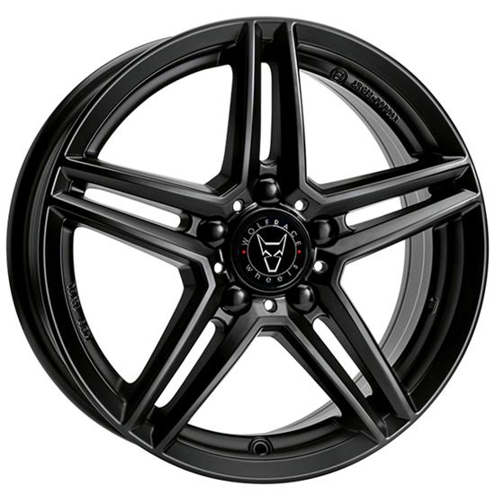 "18"" Wolfrace M10 Satin Black Alloy Wheels"