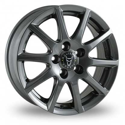 "14"" Wolfrace Milano Gloss Titanium Alloy Wheels"