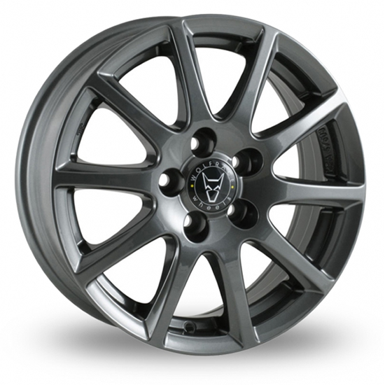 "15"" Wolfrace Milano Gloss Titanium Alloy Wheels"