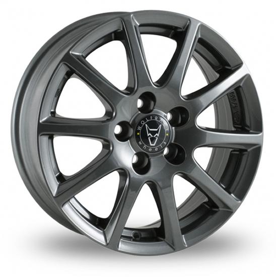 "16"" Wolfrace Milano Gloss Titanium Alloy Wheels"