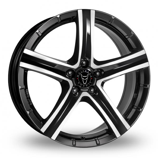 "20"" Wolfrace Quinto Gloss Black Polished Alloy Wheels"