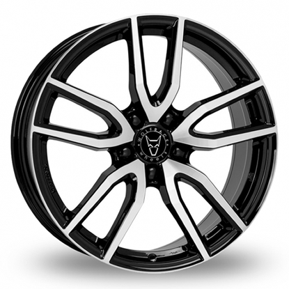 "19"" Wolfrace Torino Gloss Black Polished Alloy Wheels"