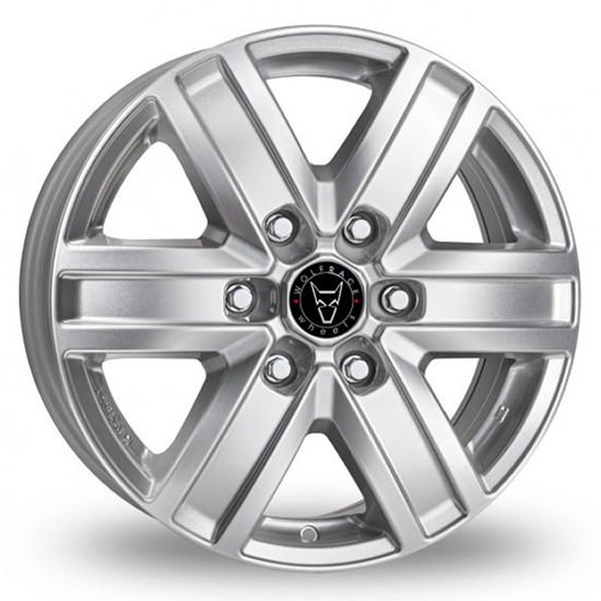 "15"" Wolfrace Transporter Polar Silver Alloy Wheels"
