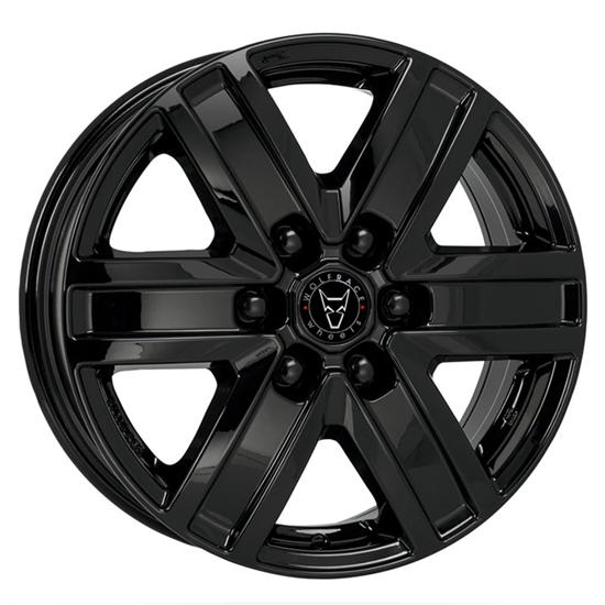 """17"""" Wolfrace Transporter Gloss Black Alloy Wheels"""