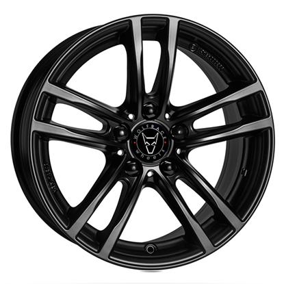 "17"" Wolfrace X10 Racing Black Alloy Wheels"