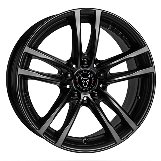 "18"" Wolfrace X10 Racing Black Alloy Wheels"
