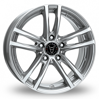 "19"" Wolfrace X10X Polar Silver Alloy Wheels"