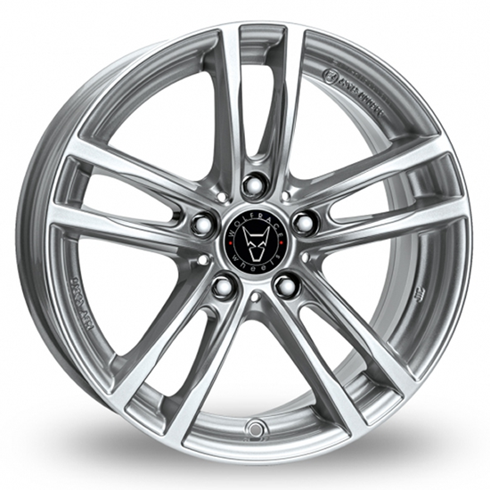 "16"" Wolfrace X10 Polar Silver Alloy Wheels"