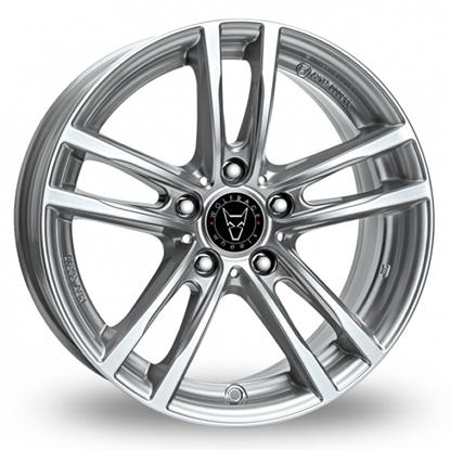 "19"" Wolfrace X10 Polar Silver Alloy Wheels"