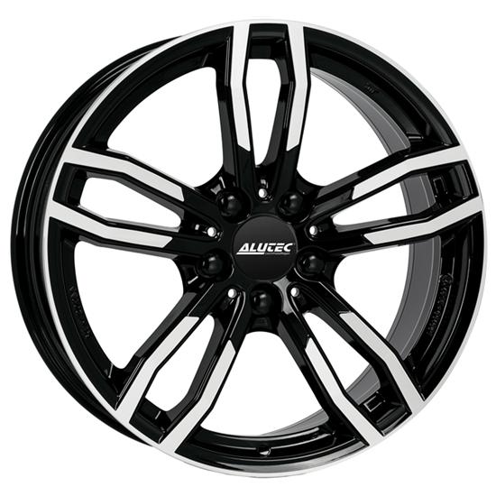 "18"" Alutec Drive Diamond Black Polished Alloy Wheels"