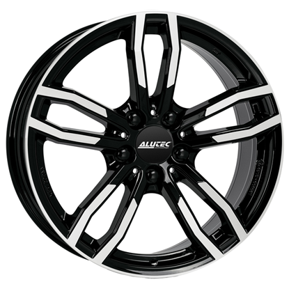"17"" Alutec Drive Diamond Black Polished Alloy Wheels"
