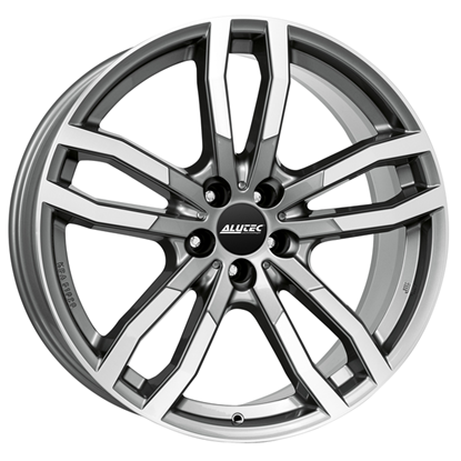 "19"" Alutec DriveX Metal Grey Polished Alloy Wheels"