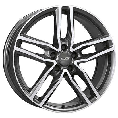 "17"" Alutec Ikenu Graphite Polished Alloy Wheels"