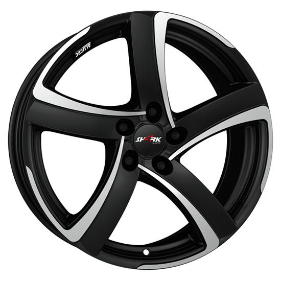 "16"" Alutec Shark Racing Black Polished Alloy Wheels"