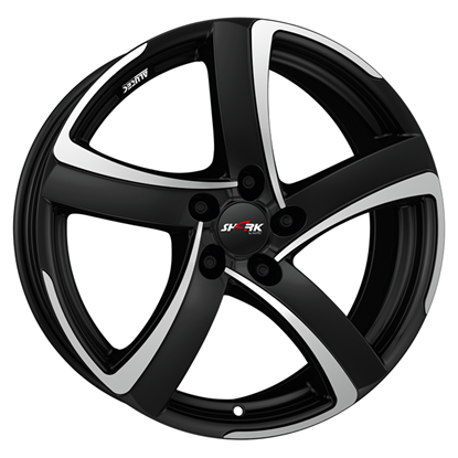 "17"" Alutec Shark Racing Black Polished Alloy Wheels"