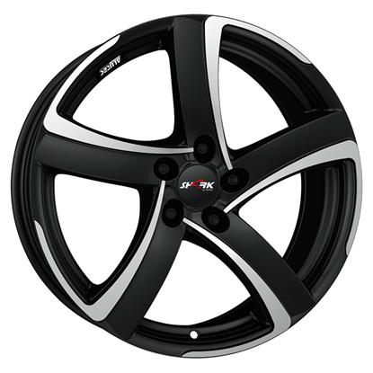"18"" Alutec Shark Racing Black Polished Alloy Wheels"
