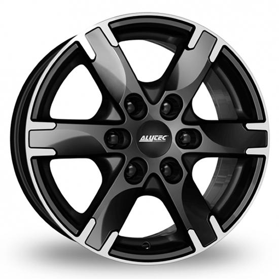 "16"" Alutec Titan Diamond Black Polished Alloy Wheels"