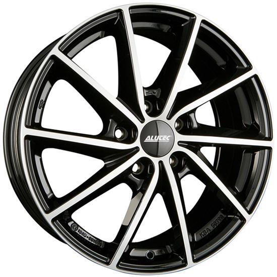 "15"" Alutec Singa Diamond Black Polished Alloy Wheels"