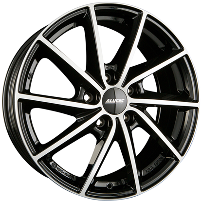 "16"" Alutec Singa Diamond Black Polished Alloy Wheels"