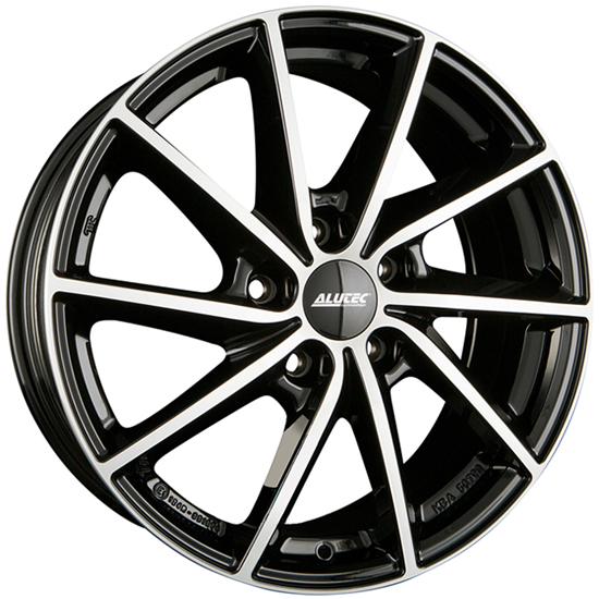 "16"" Alutec Singa Diamond Black Polished Alloy Wheels"