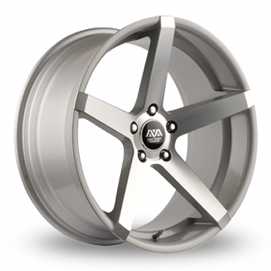 "18"" AVA Miami Hyper Silver Alloy Wheels"