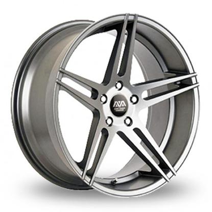 "19"" AVA Fresno Hyper Silver Alloy Wheels"