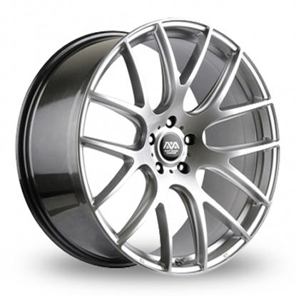 """17"""" AVA Phoenix Hyper Silver Alloy Wheels"""