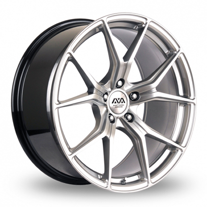 "19"" AVA Dallas Hyper Silver Alloy Wheels"