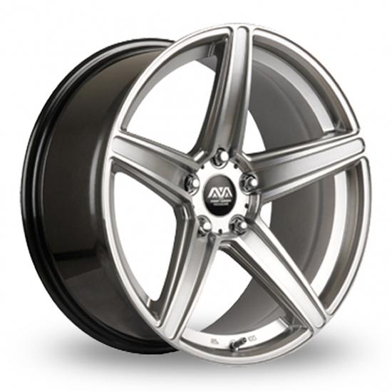 "18"" AVA Vegas Hyper Silver Alloy Wheels"