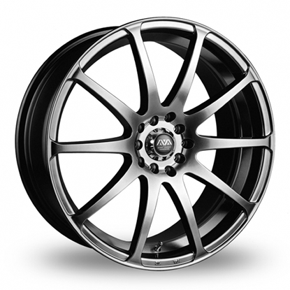 "16"" AVA Reno Hyper Black Alloy Wheels"