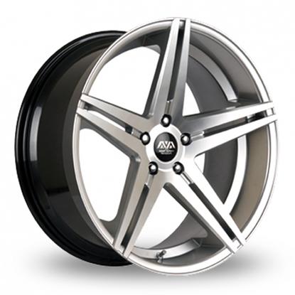 "19"" AVA Fresno 2 Hyper Silver Alloy Wheels"
