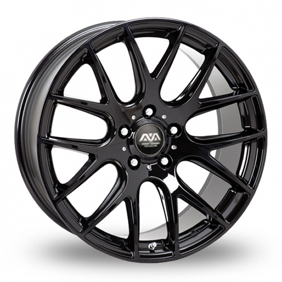 "18"" AVA Phoenix Gloss Black Alloy Wheels"