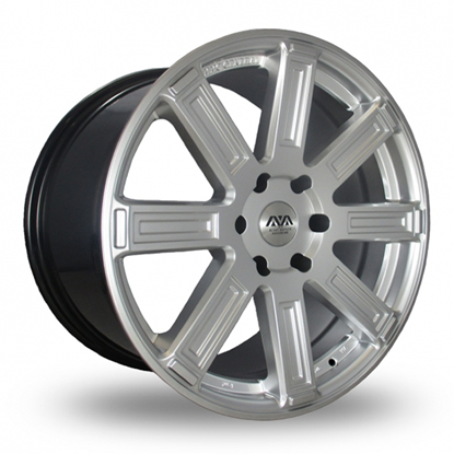 "20"" AVA Denver Hyper Silver Alloy Wheels"
