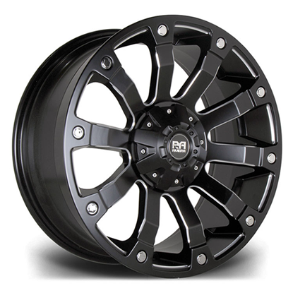 "18"" Riviera RX500 Matt Black Polished Alloy Wheels"
