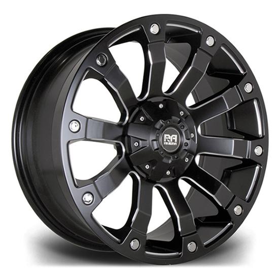 """18"""" Riviera RX500 Matt Black Polished Alloy Wheels"""