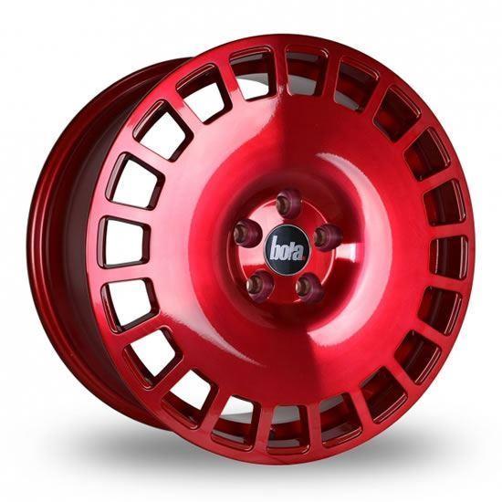 """18"""" Bola B12 Hyper Red Alloy Wheels"""