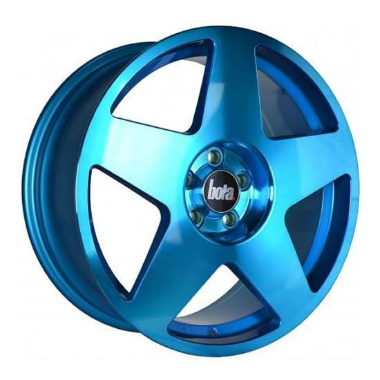 "19"" Bola B10 Hyper Blue Alloy Wheels"