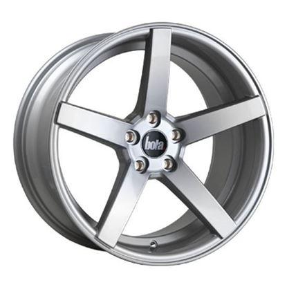 """18"""" Bola B2 Silver Alloy Wheels"""