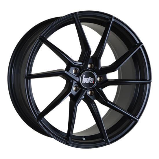 "18"" Bola B25 Matt Black Alloy Wheels"