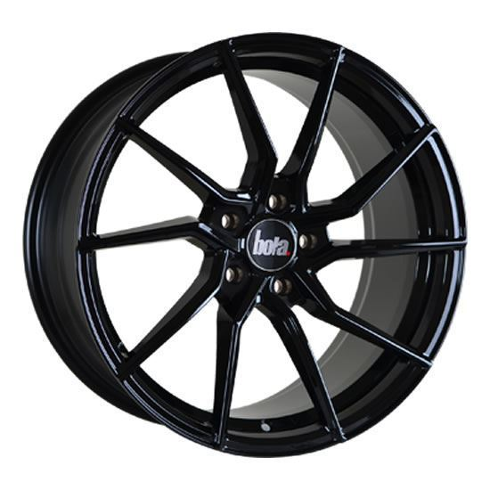 "19"" Bola B25 Gloss Black Alloy Wheels"