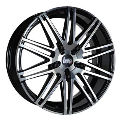 "20"" Bola B20 Black Polished Face Alloy Wheels"