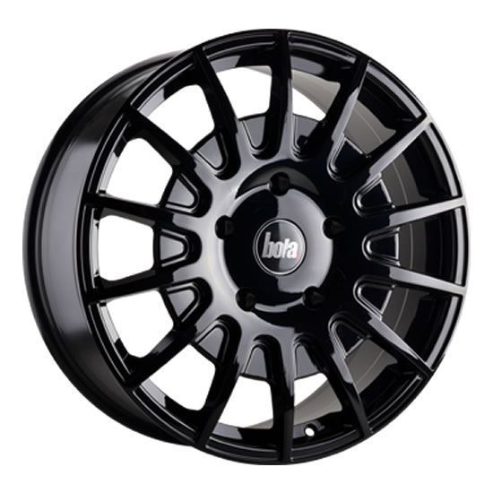 "20"" Bola B21 Gloss Black Alloy Wheels"